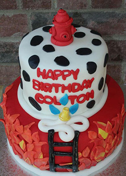 High Rise Firefighter Birthday Cake Broadwaybakerycom 39636