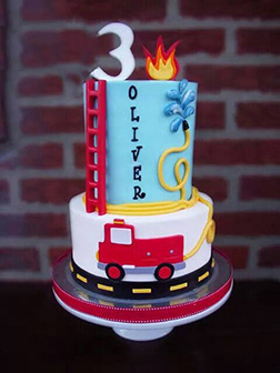 High Rise Firefighter Birthday Cake