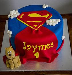 Superman Cape Baby Cake