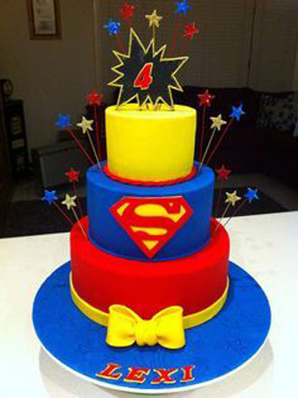 Superman Tiered Cake 2