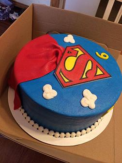 Superman Cape Cake 2