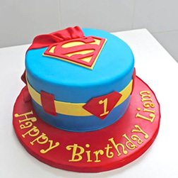 Superman Cape Cake 3