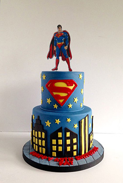 red Blue Justice Tiered Cake
