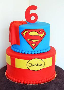 Superman Cake Tiered Cake