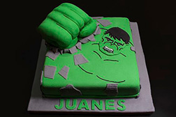 Hulk Fist Sheet Cake