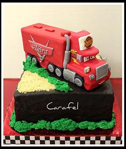 Mack Truck Hauler Cake 1
