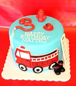 My Little Fireman Cake