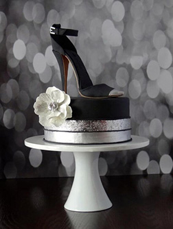 Little Black Shoe Cake