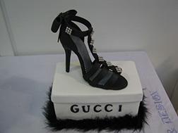 Black Gucci Party Shoe Cake