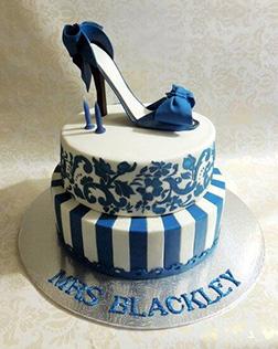 Blue Stiletto Shoe Cake