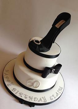 Jimmy Choo Tiered Black & White Cake