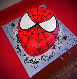 Spiderman Mask Cake 1