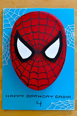 Spiderman Mask Cake 2