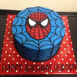 Spiderman Mask Cake 3