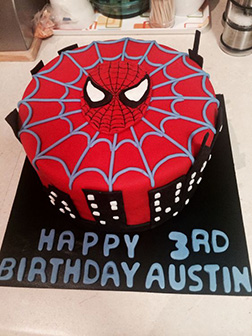 Spiderman Mask Cake 4