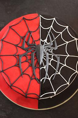 Spiderman Split Cake