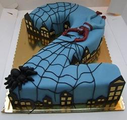 Web Slinger Number Cake