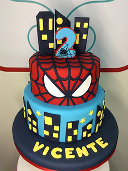 Spiderman Tiered Cake