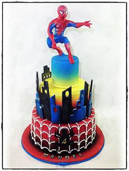 Spiderman Figurine Tierd Cake