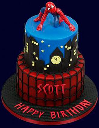 Power Up Spiderman Cake