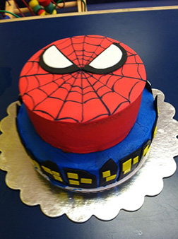 Ultimate Spiderman Tiered Cake