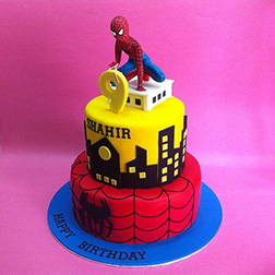 Rooftop Spidey Tiered Cake