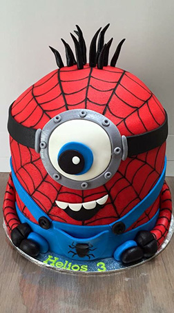 Spiderminion cake 2