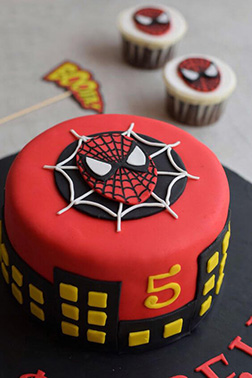 Spiderman Mask Cake