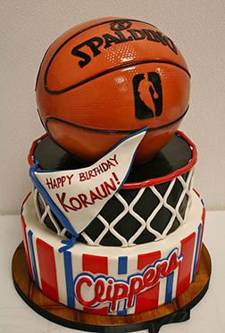 Slam Dunk LA Clippers Birthday Cake