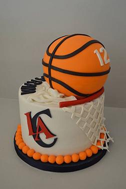 LA Clippers Basketball Cake