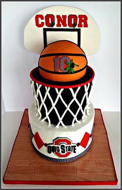 Ohio State Champion Cake