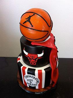 Chicago Bulls Basketball Tiered Cake
