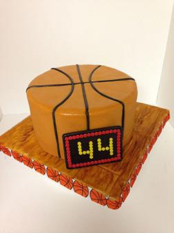 Basketball Court Floor Cake