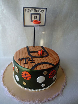 Half Court Birthday Cake