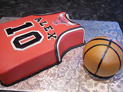 Personal Chicago Bulls Jersey Cake