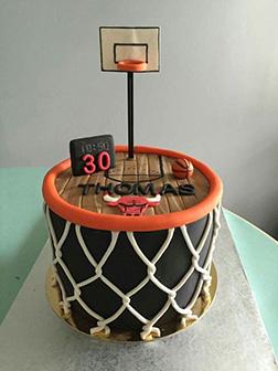 Chicago Bulls 3 Point Line Cake