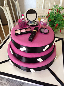 Makeup & Beauty 3 Tiered Cake