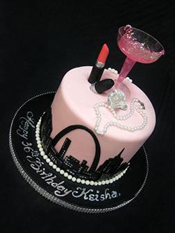 City Girl Birthday Cake