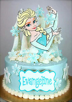 Queen Elsa Themed Cake 1