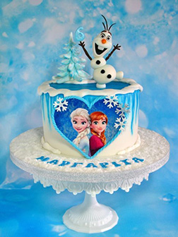 Disney Frozen Themed Cake 1