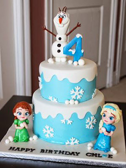 Elsa, Anna & Olaf Cake 1