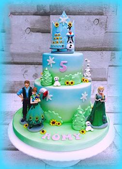Disney Frozen Themed Cake 4