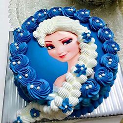 Queen Elsa Themed Cake 2