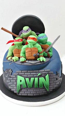 Together You Are Stronger Ninja Turtle Cake