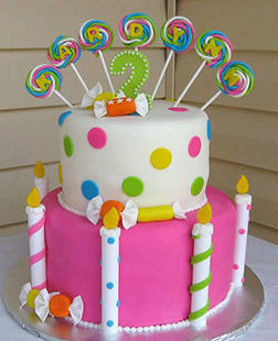 Candies & Candles Cake