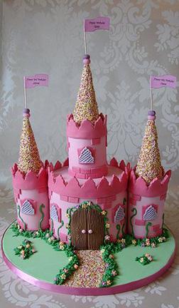 Pink Wonderland Castle  Cake 4