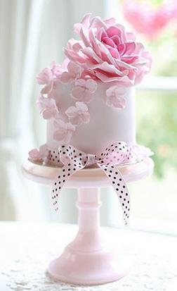 Dainty Pink Flower Cake