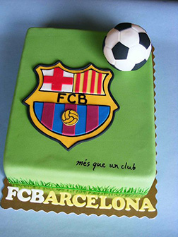 Barcelona FC Pitch & Ball Cake