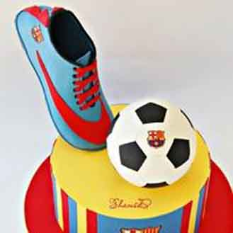 Barca Boot & Ball Cake