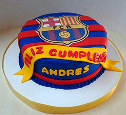 Bring the Banners Barcelona Cake